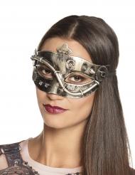 Zilverkleurig Steampunk masker voor vrouwen
