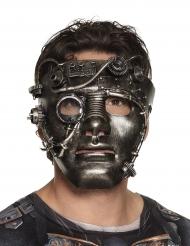 Chroomkleurig Steampunk masker voor volwassenen