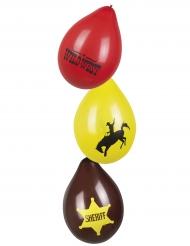 6 Western Wild West ballonnen