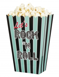 4 Rock and roll popcorn bakjes