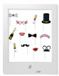 Bruiloft photobooth met kader