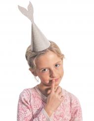 6 glitter zeemeermin hoeden