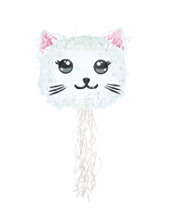 Witte Kawaii Cat pinata