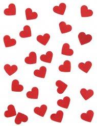 Rode harten papieren confetti
