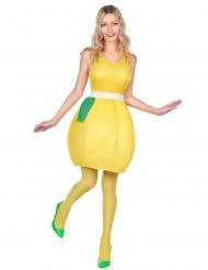 Gele citroen kostuum voor vrouwen