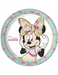 8 kartonnen bordjes Minnie Mouse™ Tropical