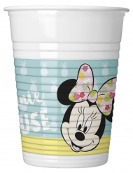 8 plastic bekertjes Minnie Mouse™ Tropical