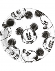 25 kartonnen retro Mickey™ borden