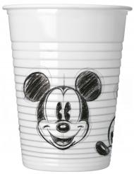 25 zwarte en witte retro Mickey™ bekers