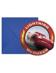 6 Cars 3™ enveloppen en uitnodigingen