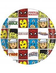 8 kartonnen Avengers™ borden