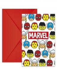 6 Avengers™ uitnodigingen met enveloppen