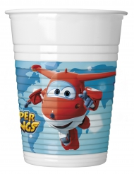 8 plastic Super Wings™ bekers