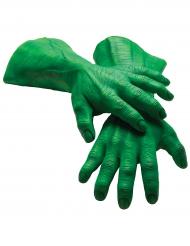 Gigantische latex Hulk™ handschoenen voor volwassenen