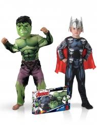 Duo Hulk™ en Thor™ klassiek kostuum box voor jongens