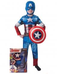 Captain America™ kostuum met schild voor kinderen