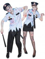 Koppelkostuum zombie politie Halloween