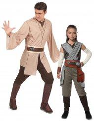 Star Wars Rey en Jedi™ kostuum voor vader en dochter
