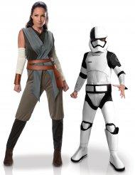 Koppelkostuum moeder zoon Rey™ en Tango Black Stormtrooper™