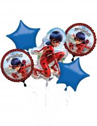 Boeket van 5 aluminium Ladybug™ ballonnen