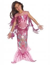 Roze glanzend zeemeermin kostuum voor meisjes