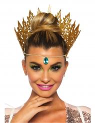Sexy goudkleurige koningin kroon voor vrouwen