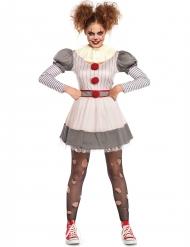 Creepy horror clown kostuum voor vrouwen