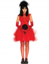 Sexy rood gothic bruid kostuum voor vrouwen