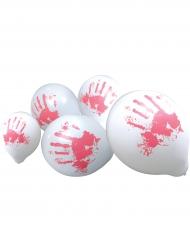 10 bloederige handen ballonnen