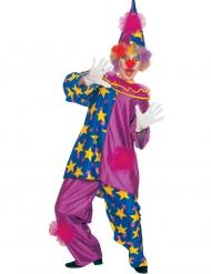 Paars sterren clown kostuum voor volwassenen