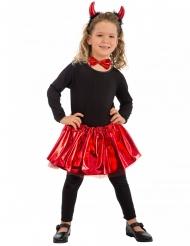 Rode duivel verkleedset met strikje voor meisjes
