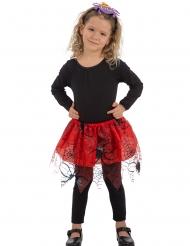 Rode tutu met zwarte spinnen voor meisjes