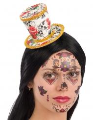 Dia de los Muertos mini hoge hoed voor vrouwen