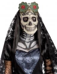 Dia de los Muertos masker van stof voor volwassenen