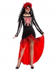 Dia de los Muertos flamenco danseres kostuum voor vrouwen