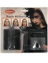 Zwarte weduwe spin schmink set