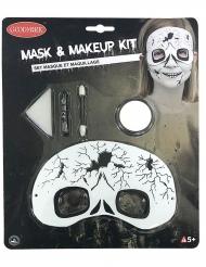 Skelet schmink en masker voor kinderen