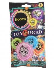 5 Illooms™ Dia de los Muertos LED ballonnen