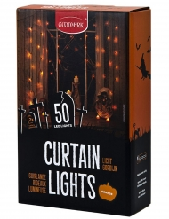 Oranje slinger decoratie met 50 LED lampjes