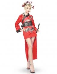 Rood dragon lady Oosters kostuum voor vrouwen