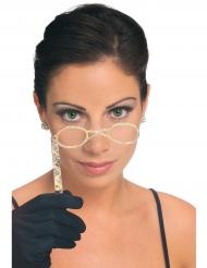 Retro bril met stokje voor volwassenen