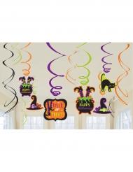 12 Happy Halloween spiraaldecoraties