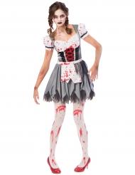 Zombie Oktoberfest kostuum voor vrouwen