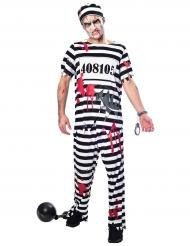 Zombie gevangenis kostuum voor mannen