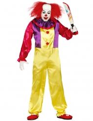 Enge killer clown outfit voor volwassenen
