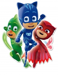 2 kartonnen PJ Masks™ muurdecoraties