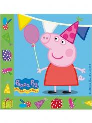 20 papieren Peppa Pig™ verjaardag servetten