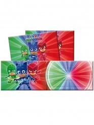 6 PJ Masks™ uitnodigingen met enveloppen