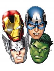 6 kartonnen Avengers™ maskers