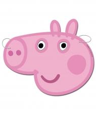6 kartonnen maskers Peppa Pig™